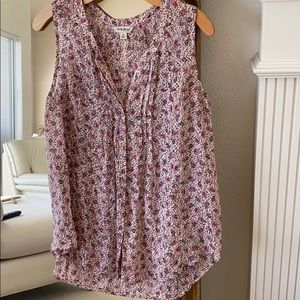 Beautiful Lucky sleeveless floral print blouse S